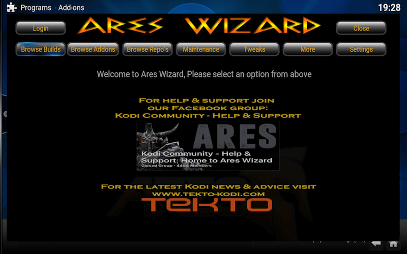 How to Install Ares Wizard Kodi