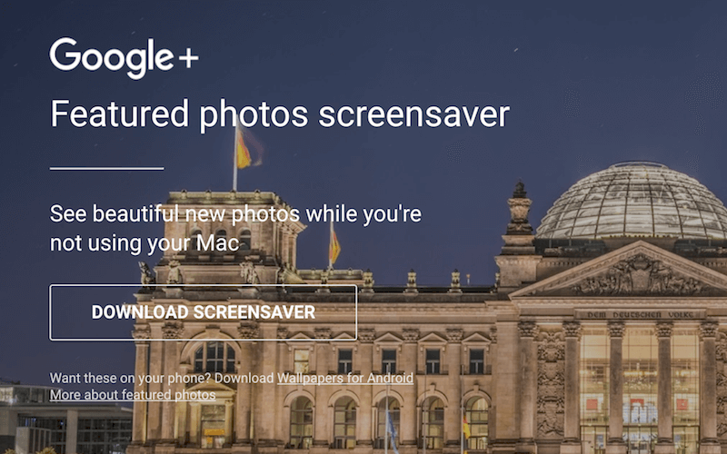 Add Chromecast Backdrops as Mac Screensavers