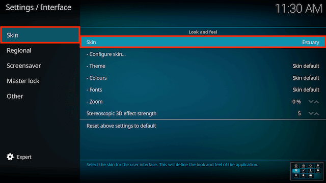 How to Change Skins on Kodi Jarvis / Krypton / Leia