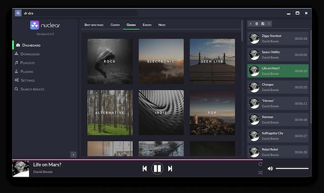 Nuclear Music App for Desktops
