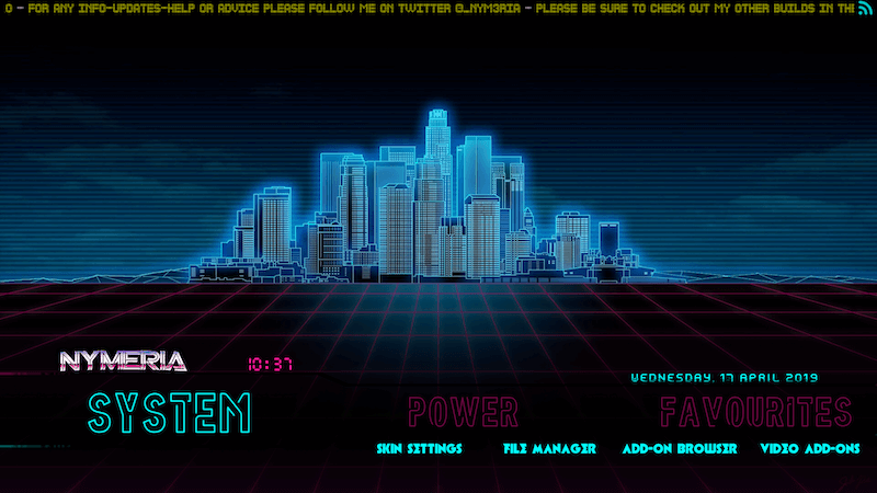 How to Install Nymerias 80s Retrowave Build Kodi 18